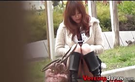 Publicly masturbating asian cuties watched outdoors - e-porn.net