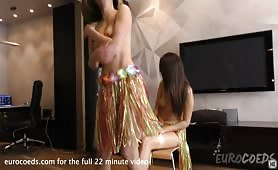 mira and patricia sun first ever girl girl lap dance in my living room