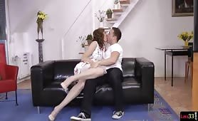 Bigtits cougar doggystyled after foreplay on the sofa - e-porn.net